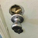 doorknob connecting to neighboring room