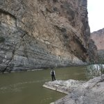 In the middle of the Rio Grande and the Santa Elena Canyon