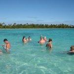 a blue lagoon! on Isla  Saona