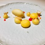 Passion fruit & ginger sorbet