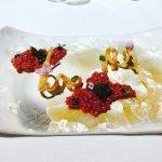 beet crisps with caviar