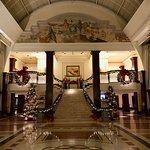 Lobby during Christmas.