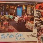 la carte postale du restaurant