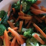 The side of vegetables was a disgusting afterthought, watery and not seasoned at all. NASTY!