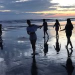 la playa cuando baja la marea