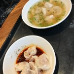 Wontons in soup and spicy sauce