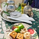 Tea & Moroccan cakes on the terrace