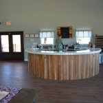 Our tasting bar, before opening