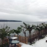 Taken December 2017... View from room across to Quadra Island and the Mudge Beach lighthouse