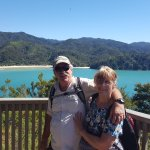 Evelyn and Nick At Pitt Head, Abel Tasman National Park.