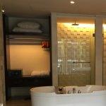 Beautiful bathroom with deep bath & ample storage