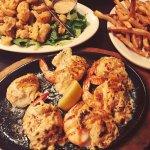 Calamari, crab stuffed shrimp