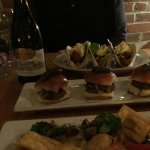Foster restaurant inside common man inn -pork taco & burger slider, green curry shrimp