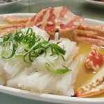 Steam sea crab with cheong fun (rice noodle) in chinese wine