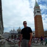 Shan and the Campanile of Venice in San Marco Square!