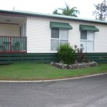 Cabin 317 Brisbane Holiday Village from outside (side view)