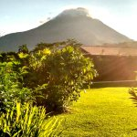 Arenal Volcano right from the terrace of the room