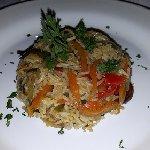 Stir fried veggies with rice