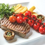 Main: Delicious steak cooked to your liking