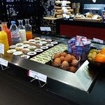 Buffet petit-déjeuner, produits frais