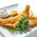 Mains: Our Fish and chips is amazing!