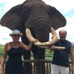 Karen and William with Rambo at the Elephant Encounter