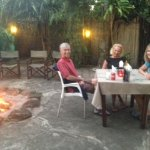 Dining in the Boma under the stars with a lovely bonfire