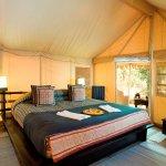 Luxury tent inside
