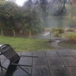 View from patio doors on a very dull day!