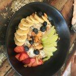 Healthy muesli bowl