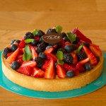 Torta de frutas vermalhas