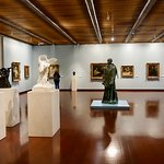 Paintings and Rodin sculptures