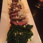 Incredibly fresh and delicious ahi; even the spinach with the filet mignon was great; terrific d
