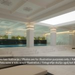 Indoor pool with heated water (water temperature 29 °C) 23 m2, depth 130 cm