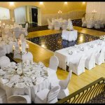 The Causeway Suite, prepared for a wedding reception