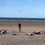 Pilates sur plage cours collectif