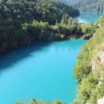 Plitvice Lakes from above the Big Waterfall