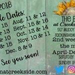 Our Sale Dates 2018