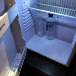 Minibar has just a bottle of water.