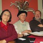 Livia, CER-Aleph y Octavio Arbeláez (Director del Festival Internacional de Teatro y empresario