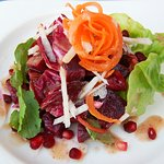 Grilled Radicchio Salad with Roasted Beets and Pomegranate Seeds
