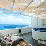 Junior Suite MELTEMI with outdoor Jetted Tub and sea view