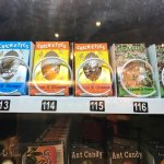 vending machine with real candies made from crickets, ants, larva, etc.