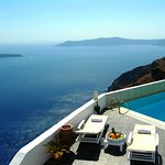 Hotel's panoramic Caldera sea view
