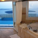 Superior Studio DAPHNE with indoor Jetted Tub by window  with sea view