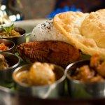 THALI- SHRIMP, FISH, LAMB, CHICKEN
