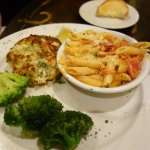 Crab Cake with broccoli & penne