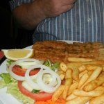 Espada chips and salad
