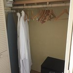 Closet with Iron & Ironing board - the Robes were a nice touch.