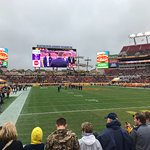 cold day, great seats in end zone